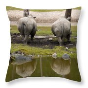 Look At The Best Parts Throw Pillow