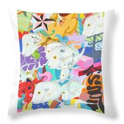 Look Down The Street Throw Pillow