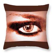 Look Into My Eye Throw Pillow