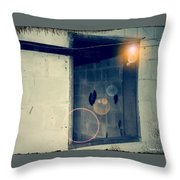 Look Into The Past Of No Remembrance Throw Pillow