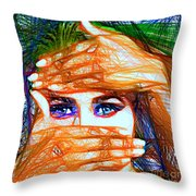 Look Out Of The Box Throw Pillow