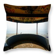 Look Out Post Interior Throw Pillow