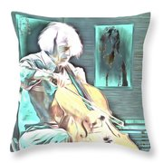 Look The Musician Plays Throw Pillow