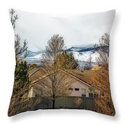 Look To The Hills Throw Pillow