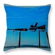 Look Up To The Sky For Rescue Throw Pillow
