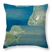 Lookdown Fish Selene Sp. In Motion Throw Pillow