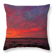 Looking Across At Sundown Throw Pillow