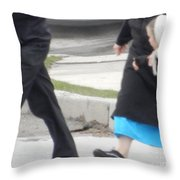 Looking At Mom Throw Pillow