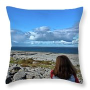 Looking At The Beautiful View Throw Pillow