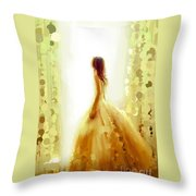 Looking At The Window #0074 Throw Pillow
