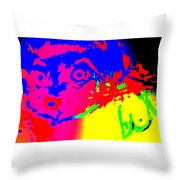 looking at you I can see only myself  Throw Pillow