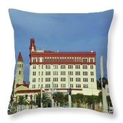 Looking Back At St Augustine Throw Pillow