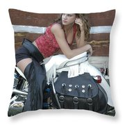 Looking Back On Life Throw Pillow
