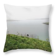 Looking Beyond The Sorrow Throw Pillow