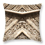Looking Both Ways Down The Train Tracks Throw Pillow