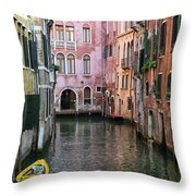 Looking Down A Venice Canal Throw Pillow