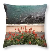 Looking Down, Angra Do Heroismo, Terceira Island Of Portugal Throw Pillow by Kelly Hazel