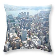 Looking Down At New York 2015  Throw Pillow