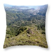 Looking Down From The Top Of Mount Tamalpais 2 Throw Pillow