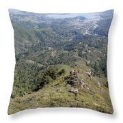 Looking Down From The Top Of Mount Tamalpais Throw Pillow