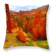 Looking Down In Bryce Throw Pillow