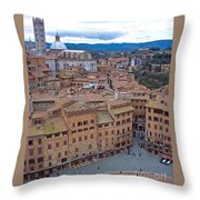 Looking Down On Il Campo Throw Pillow