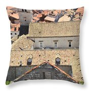 Looking Down On Old Dubrovnik Throw Pillow
