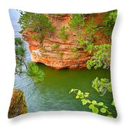 Looking Down On The Caves Throw Pillow