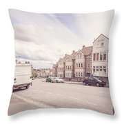 Looking Down Redland Road D Bristol England Throw Pillow