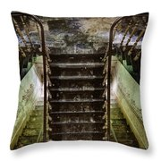 Looking Down The Stairs - Urban Exploration Throw Pillow