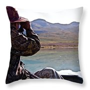 Looking For Musk Ox In Greenland Throw Pillow