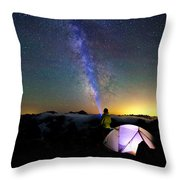 Looking For Others Throw Pillow