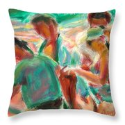 Looking For Shells Throw Pillow