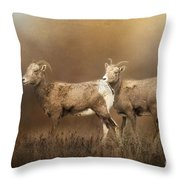 Looking For The Herd Throw Pillow