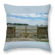Looking From Brownsea Towards Sandbanks And Shell Bay Throw Pillow