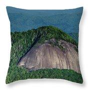 Looking Glass Rock Mountain In North Carolina Throw Pillow