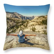 Looking Half Dome Throw Pillow