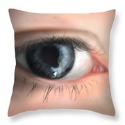 Looking Into The Beyons Throw Pillow