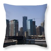 Looking Into The City Throw Pillow