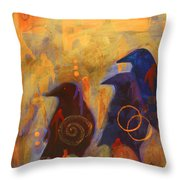 Looking Into The Darkness Throw Pillow