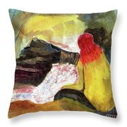 Looking Into The Infernal Of Hell Throw Pillow