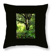 looking into the Jungle Throw Pillow