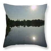 Looking Into The Sun Throw Pillow