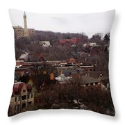 Looking North From  Lafayette And Summit. Throw Pillow