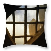 Looking Out From The Mercer Museum Throw Pillow