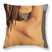 Looking Over Throw Pillow