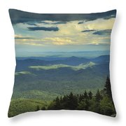 Looking Over The Valley Throw Pillow