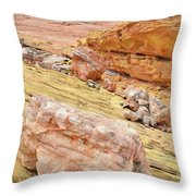 Looking Skyward From Wash 3 In Valley Of Fire Throw Pillow
