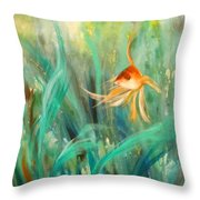 Looking - Square Painting Throw Pillow