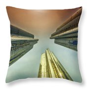 Looking Straight Up Throw Pillow